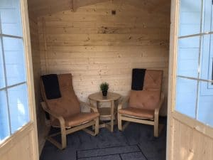 Comfortable Seating In the Garden Lodge
