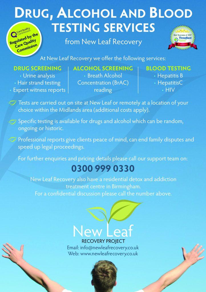 New Leaf A5 Drug Testing
