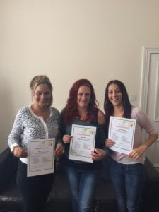 Graduation from the 12 week therapeutic programme for three New Leaf residents